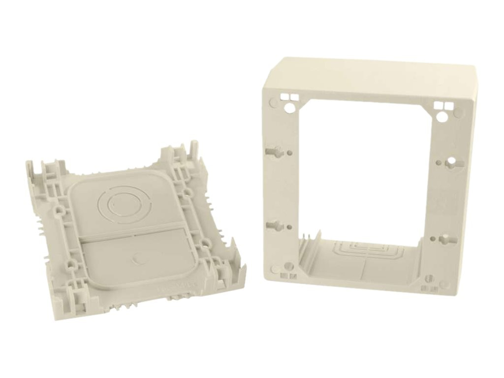 C2G Wiremold Uniduct Double Gang Extra Deep Junction Box, Ivory