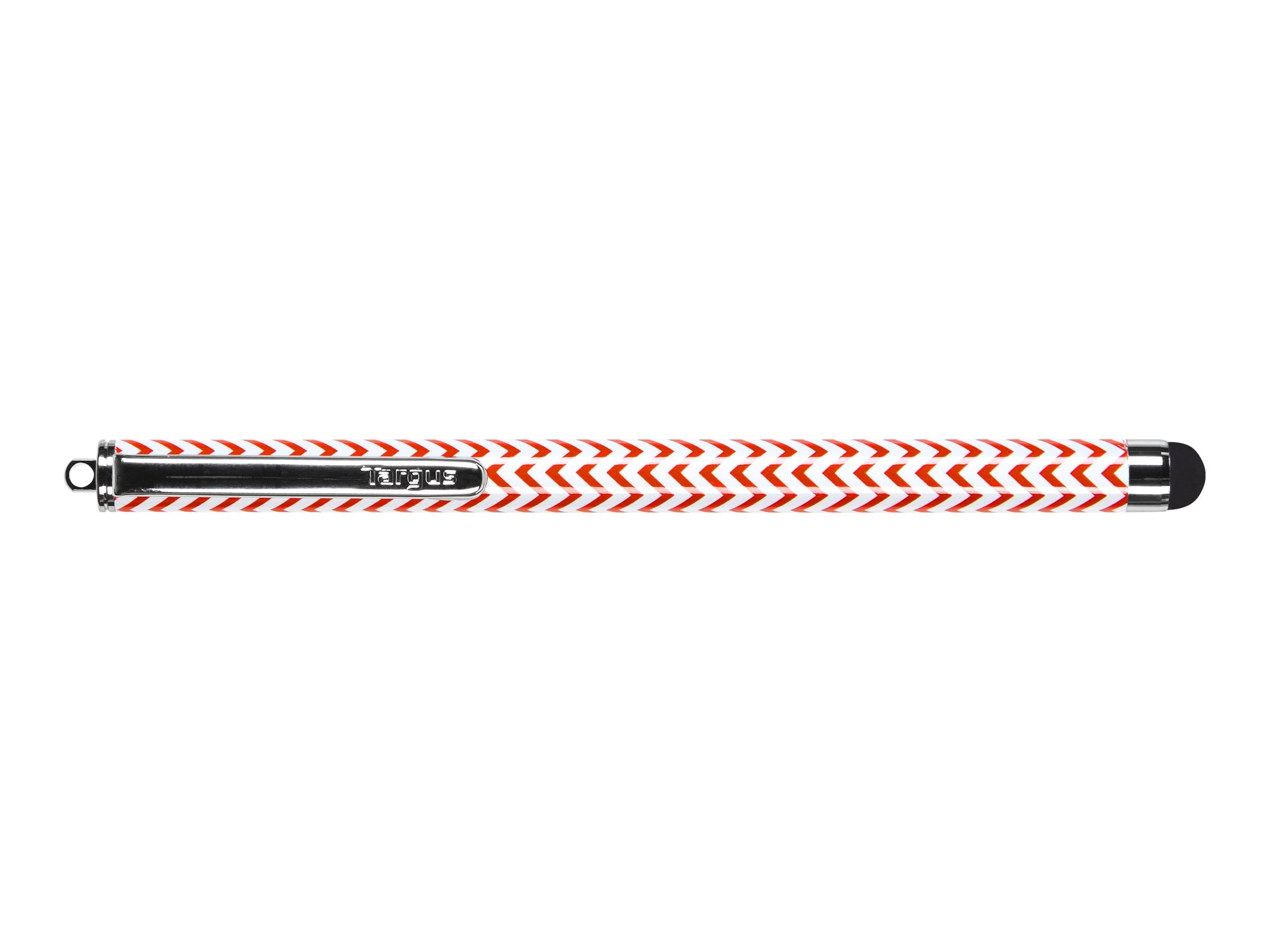 Targus Chevron Patterned Stylus, Red, AMM01B14US