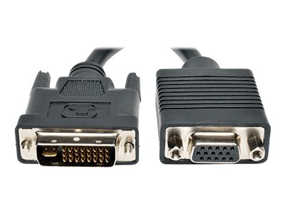 Tripp Lite DVI-I Dual Link to VGA M F Adapter Cable, 8, P120-08N