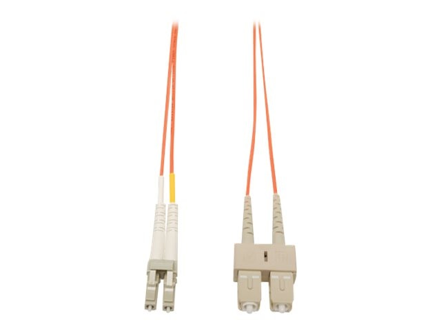 Tripp Lite Fiber Optic Patch Cable, LC-SC, 62.5 125, Duplex, Multimode, 3m, N316-03M, 454628, Cables