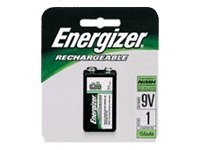 Energizer Battery, NiMH, Rechargeable, 9 Volts