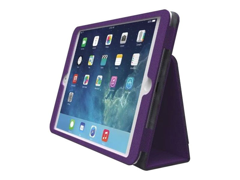 Kensington Comercio Plus Soft Folio Case for iPad Air, Plum, K97214WW, 17381516, Carrying Cases - Tablets & eReaders