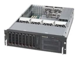 Supermicro SuperChassis 833T 3U RM, Single or DC Intel AMD, 8x3.5 HS Bays, 6x PCI, 6x Fans, 650W PS, CSE-833T-653B, 14696643, Cases - Systems/Servers