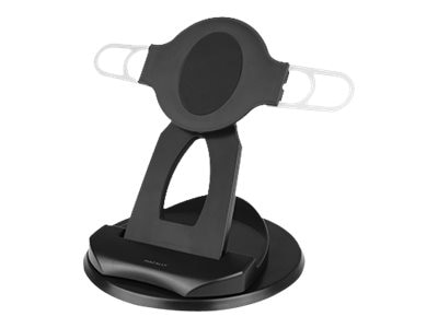 Macally 2-in-1 Swivel Desk Stand and Hand Strap Holder for iPad Tablet