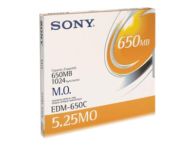 Sony 650MB 5.25 1x Rewritable Magneto Optical Disc, EDM650CWW