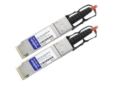 ACP-EP QSFP+ to QSFP+ Direct Attach Cable, MSA Compliant, 100m, QSFP-56G-AOC100M-AO, 18662117, Cables