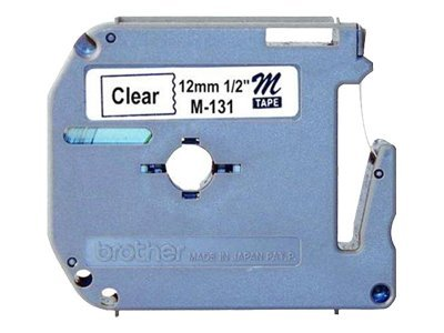 Brother 1 2 Black-on-Clear M Tape, M131
