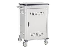 Black Box 27-Device Chromebook Cart, Single Frame with Medium Slots, Hinged Door, and Cable Management, UCCSM27H-14C, 32890175, Computer Carts
