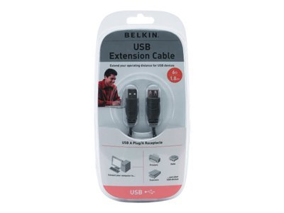 Belkin Pro Series USB A Extension Cable M-F 6ft Clamshell Packaging, F3U134V06, 7008507, Cables