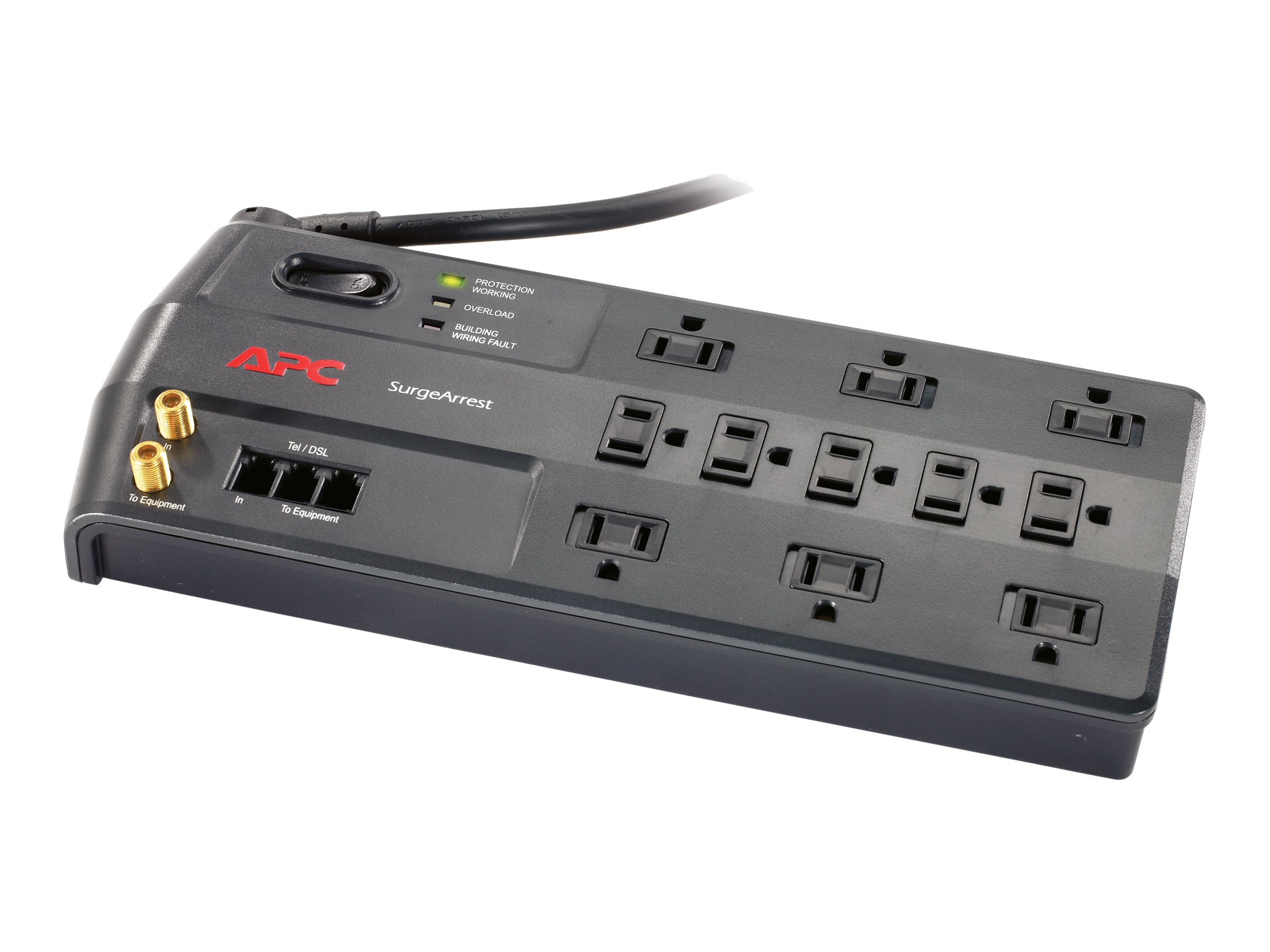 APC Performance SurgeArrest, 2030 Joule, Tel Splitter, Coax, (11) Outlets, P11VT3, 8342144, Surge Suppressors