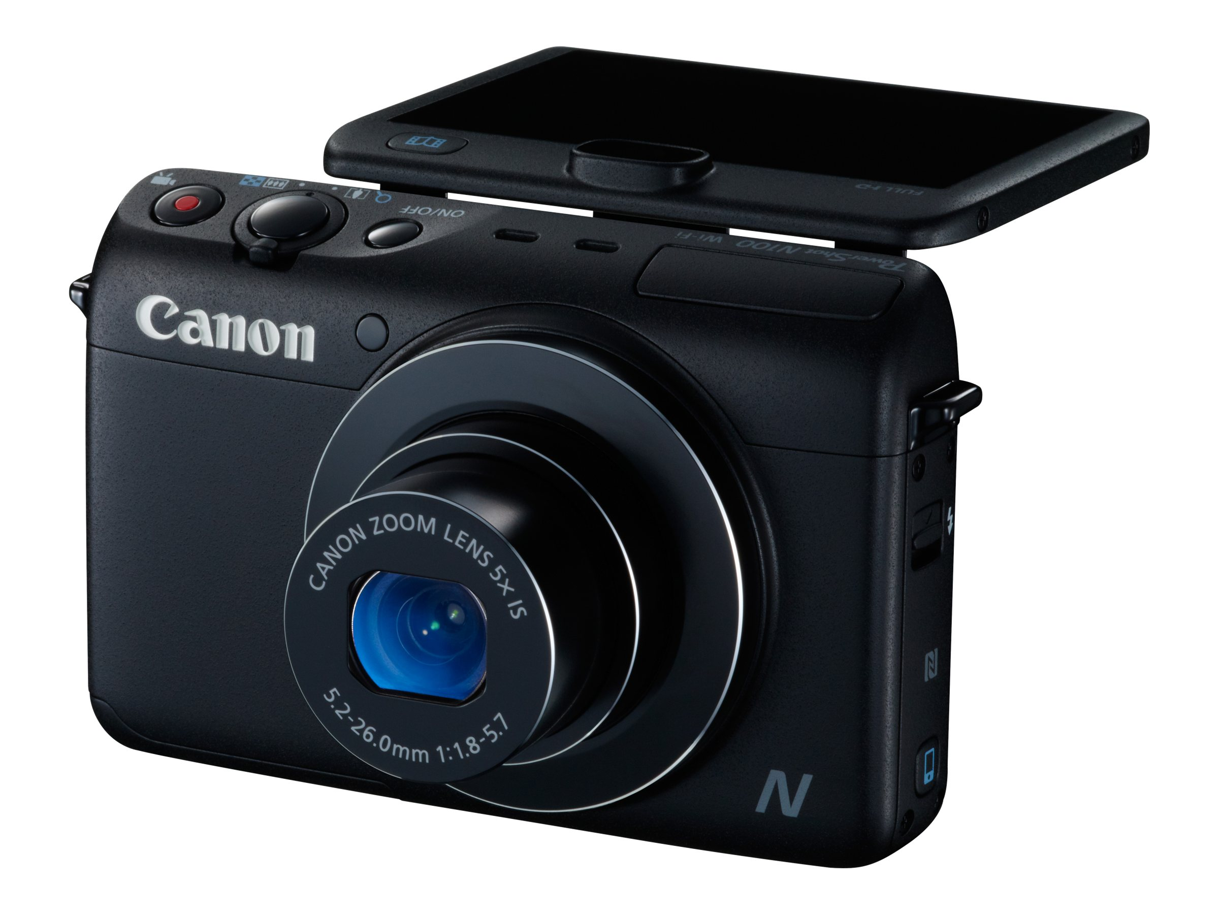 Canon PowerShot N100 Digital Camera, Black, 9168B001