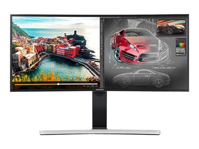Samsung 34 S34E790C WQHD LED-LCD Ultra-Wide Curved Monitor, Black, LS34E790CNS/GO