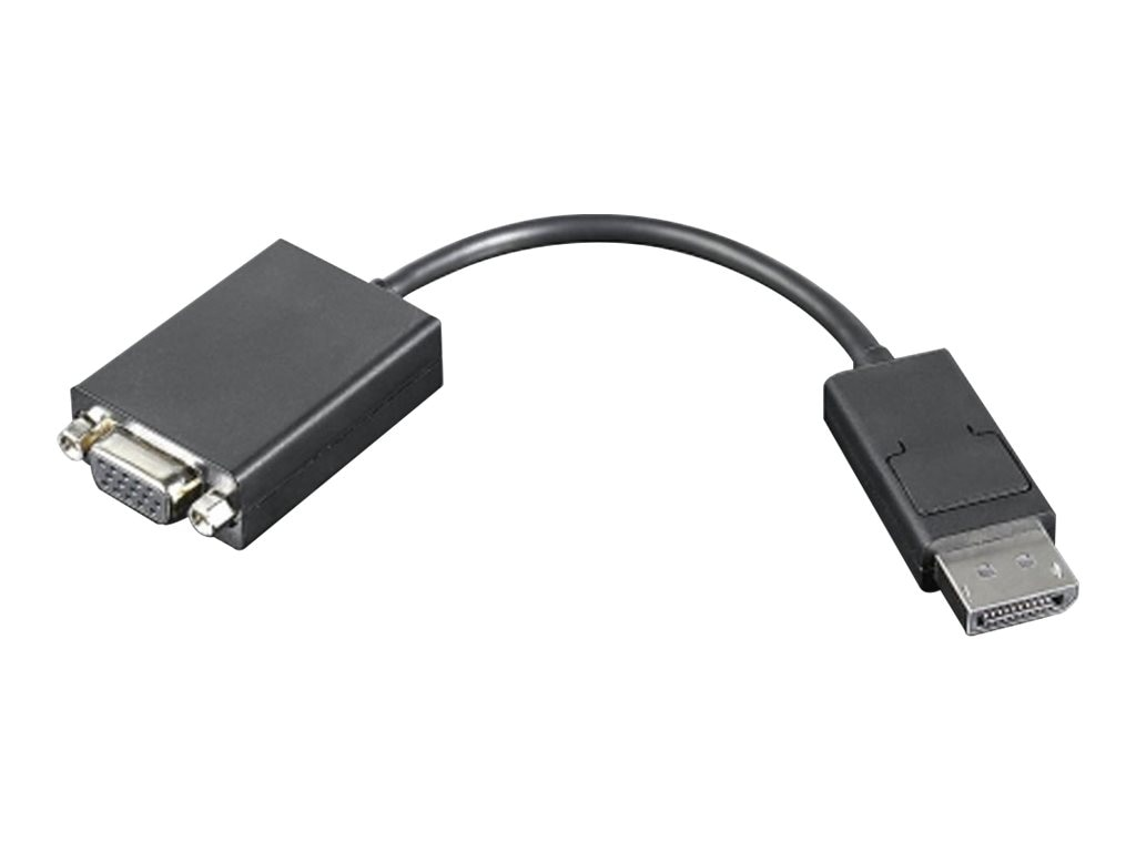 Lenovo DisplayPort to VGA Monitor Cable, 8in, 57Y4393, 10235241, Cables