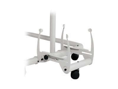 Ergotron CPU Side Rack with Caster, Cool Gray, 564CG