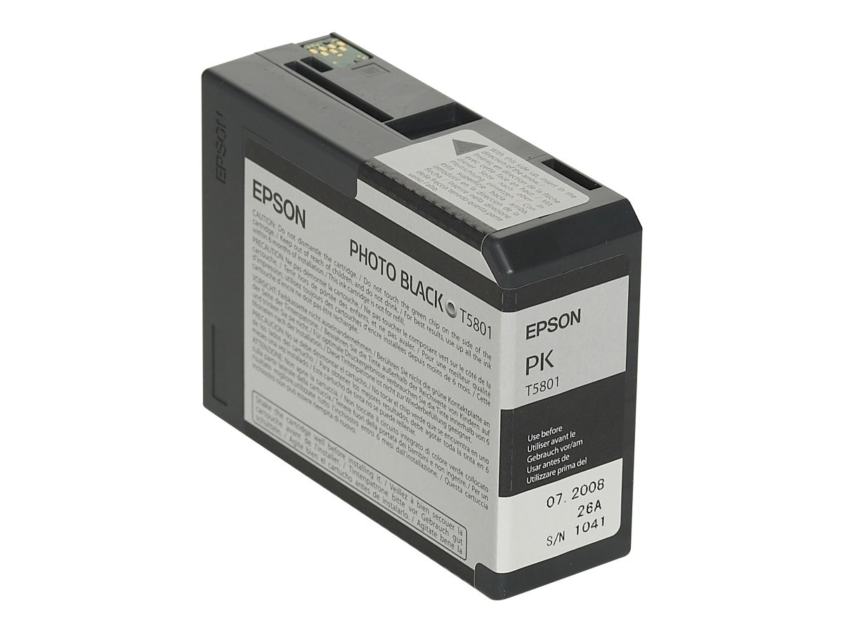 Epson Photo Black 80 ml UltraChrome K3 Ink Cartridge for Stylus Pro 3800 3800 Professional Edition, T580100