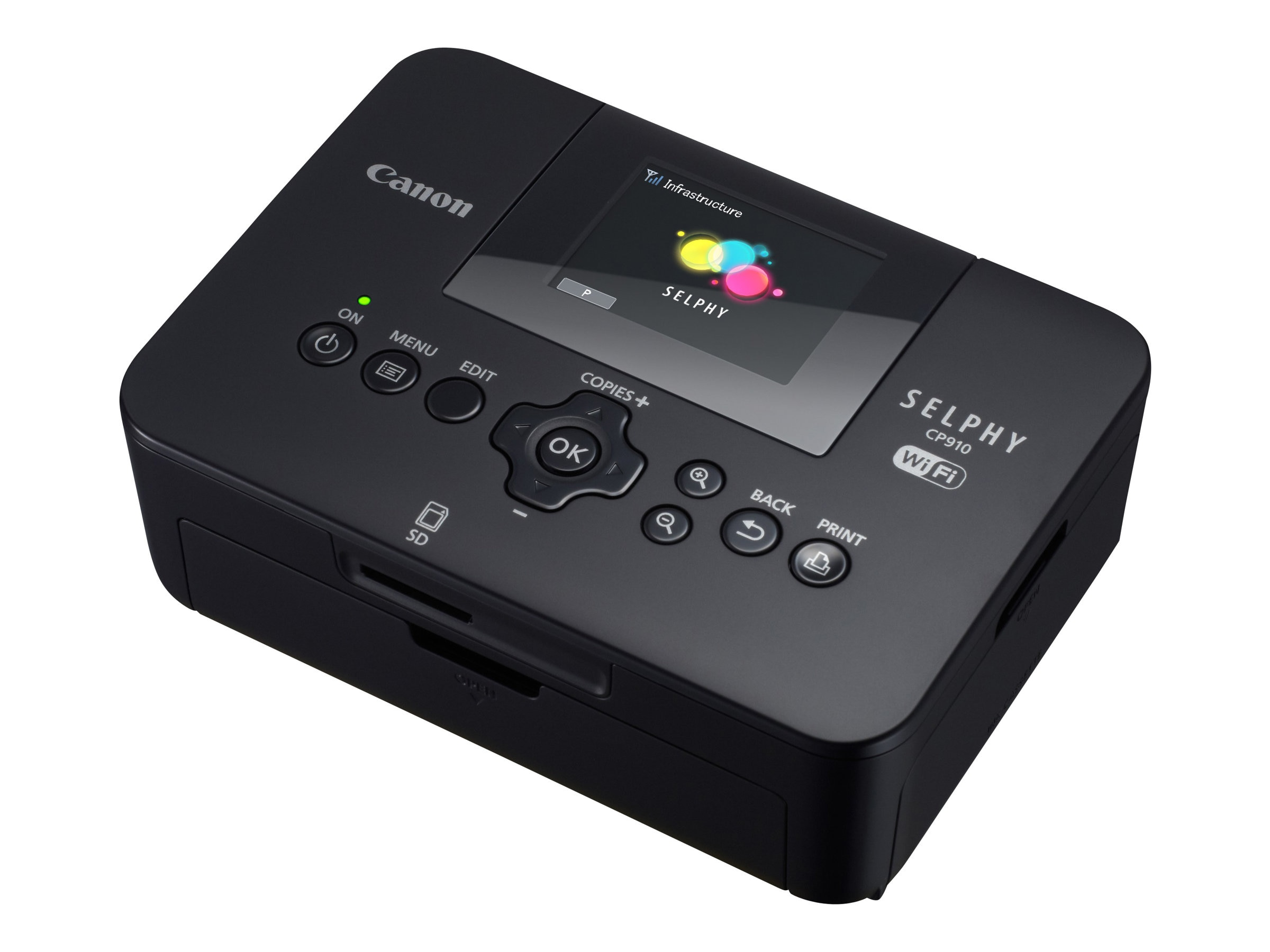 Canon SELPHY CP910 Compact Photo Printer - Black, 8426B001, 16694318, Printers - Photo