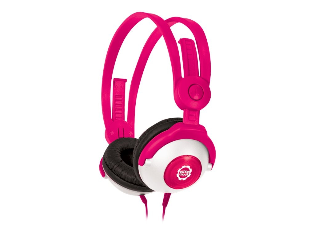 Kidz Gear Wired Headphones For Kids, Pink