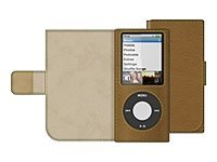 Belkin Eco-Conscious Leather Folio for iPod nano (4th Gen), Walnut, F8Z395-WNT, 9085320, Carrying Cases - iPod