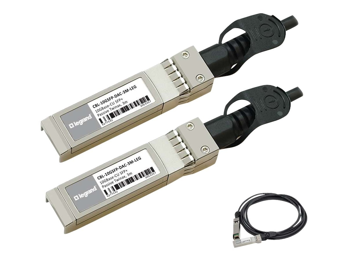 C2G 10GBASE-CU SFP+ to SFP+ Passive Twinax Direct Attach Cable, 0.5m, MSA and TAA Compliant