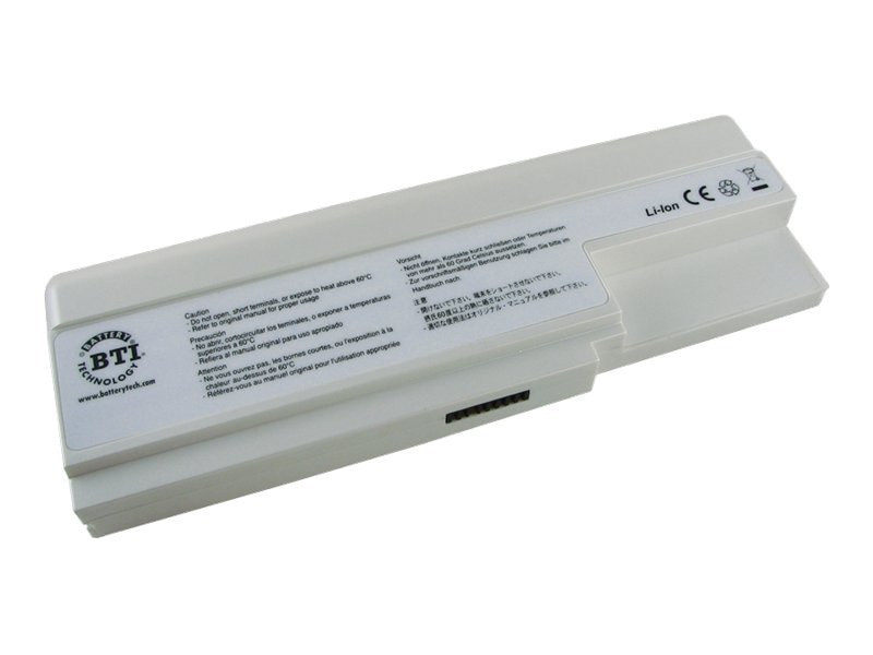 BTI Battery, Lithium-Ion, 14.8 Volts, 4500mAh, White, MD-95335, 8219963, Batteries - Notebook