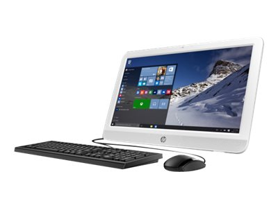 HP 20-e010 AIO AMD DC E1-6010 1.35GHz 4GB 500GB DVD SM NIC bgn 19.5 HD+ W10H, M9Z49AA#ABA, 30771818, Desktops - All-in-One