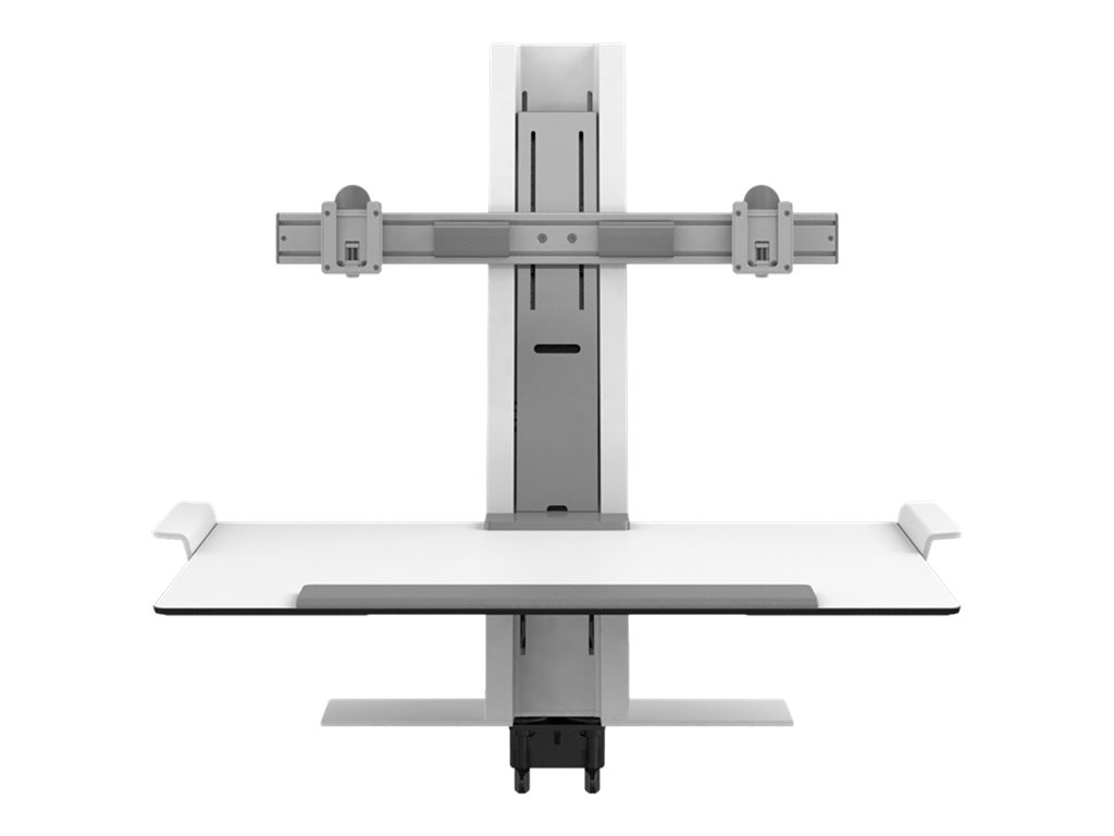 Humanscale QuickStand Dual-Monitor Clamp Mount, White