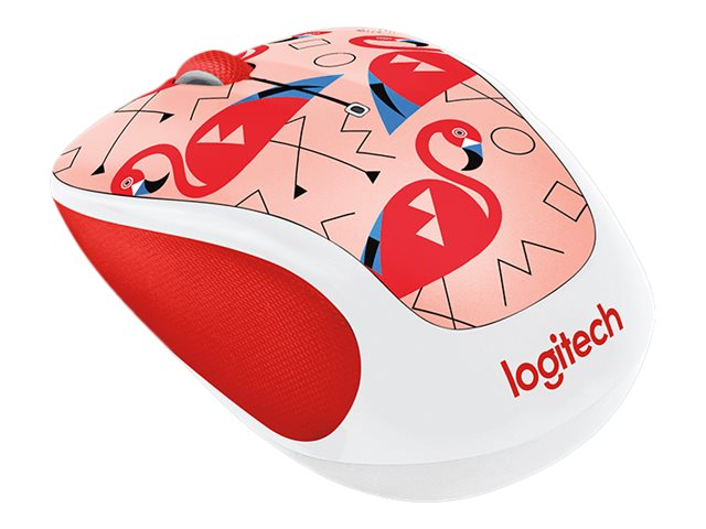 Logitech M325c Wireless Optical Mouse, Flamingo, 910-004678
