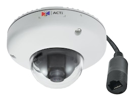Acti 10MP Outdoor Mini Dome with Basic WDR, M12 connector, Fixed lens, E922M, 19911736, Cameras - Security