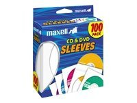 Maxell CD DVD Sleeves (100-pack), 190133, 9706350, Media Storage Cases