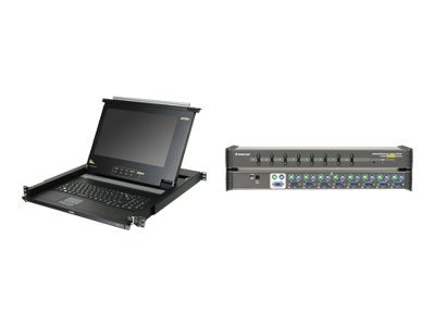 IOGEAR LCD Console Drawer and 8-Port KVM Bundle, GCL138