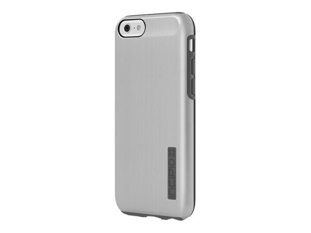 Incipio DualPro SHINE Dual Layer Protection w  Brushed Aluminum Finish for iPhone 6 6s, Silver Gray, IPH-1180-SLVRGRY