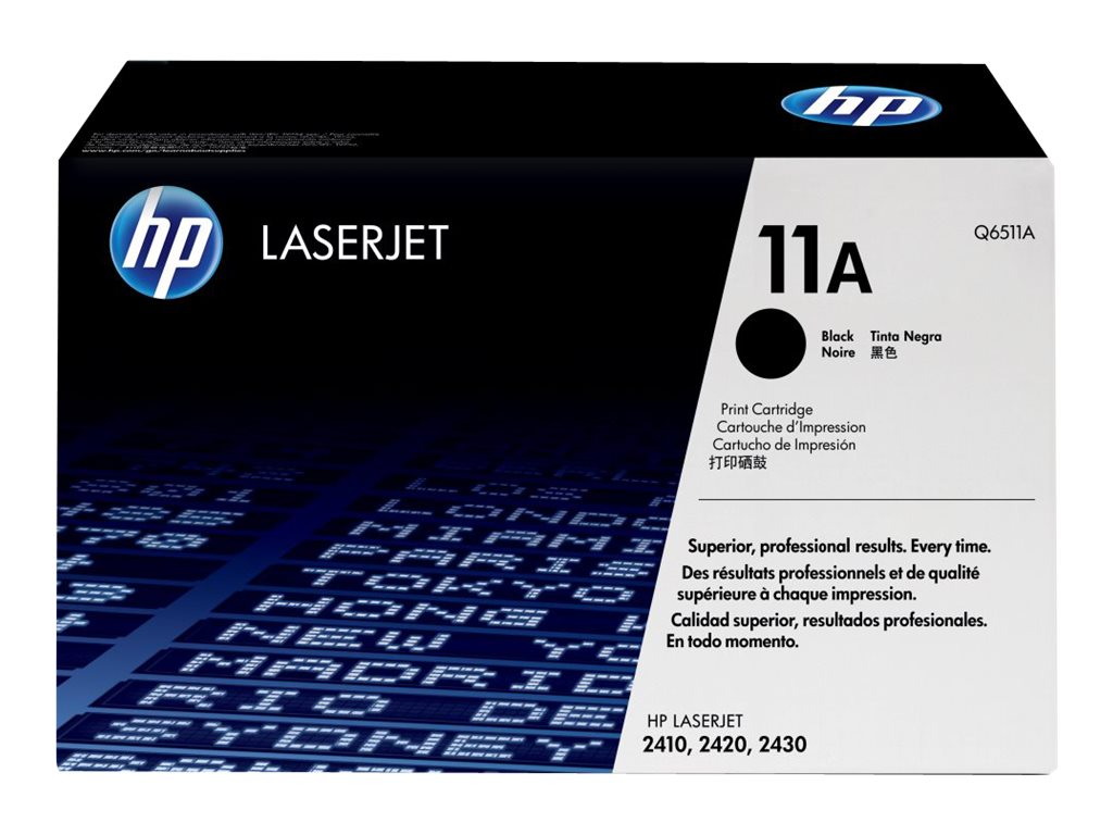 HP 11A (Q6511A) Black Original LaserJet Toner Cartridge for HP LaserJet 2420 & 2430 Printers