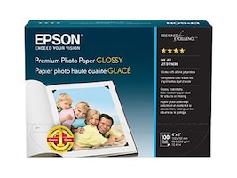 Epson 4 x 6 Premium Glossy Photo Paper (100-sheets), S041727, 5382255, Paper, Labels & Other Print Media