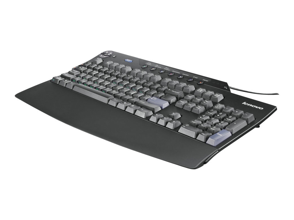 Lenovo Enhanced Performance USB Keyboard w  2-Port USB 2.0 Hub, Business Black, 73P2620, 5091571, Keyboards & Keypads