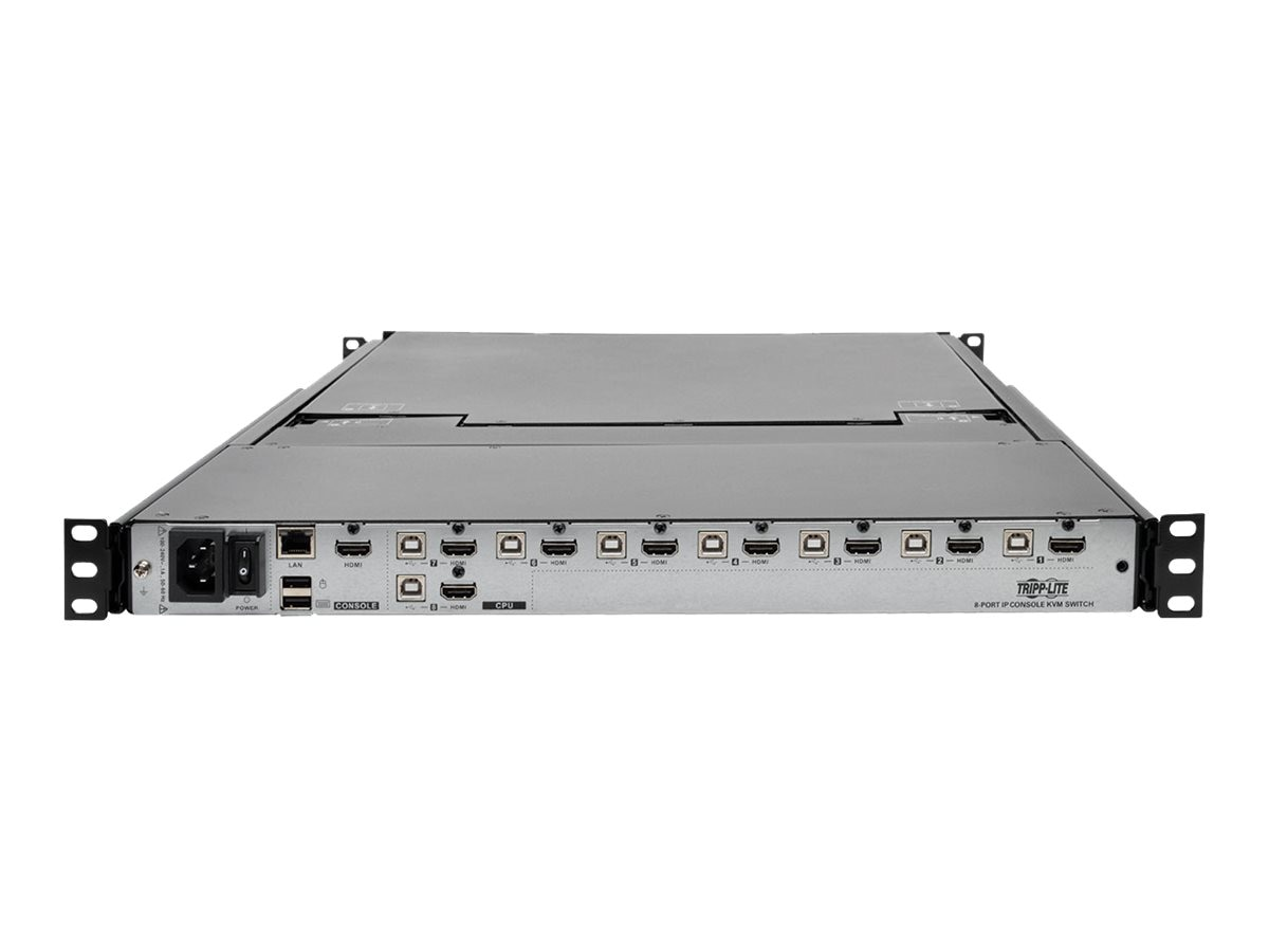 Tripp Lite NetDirector 8-Port 1U Rack-Mount Console HDMI KVM Switch with 17 in. LCD and IP Remote Access, Dual, B030-008-17-IP