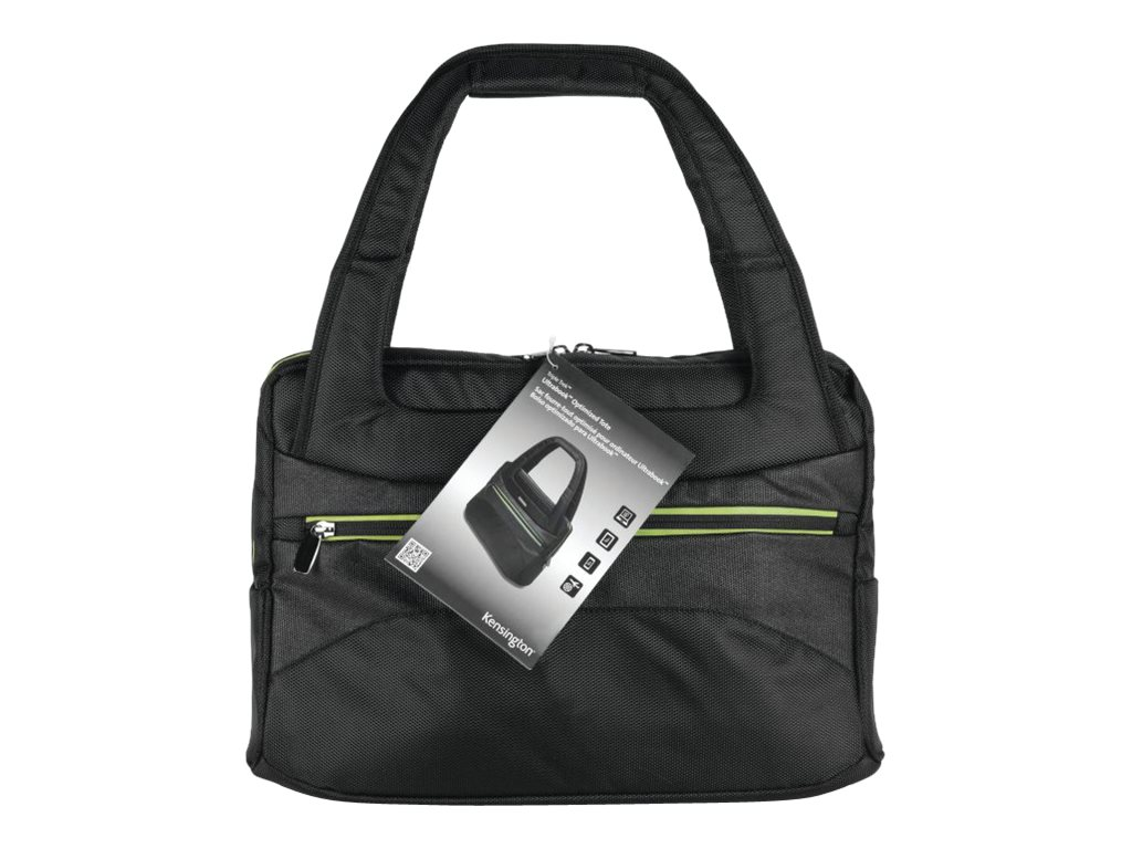 Kensington Triple Trek Ladies Tote for 13 to 14 Ultrabook, Black Green, K62588AM, 15570022, Carrying Cases - Notebook