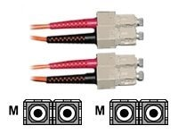 CP Technologies ClearLinks Fiber Patch Cable, SC-SC, 62.5 125, Multimode, Duplex, Orange, 4m