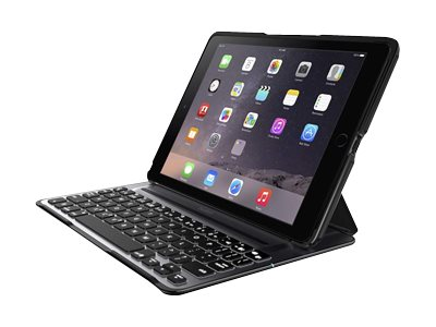 Belkin QODE Ultimate Pro Keyboard Case for iPad Air 2, Black, F5L176TTBLK, 18512071, Keyboards & Keypads
