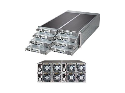 Supermicro SuperServer F617R3 4U RM 8-Node (8x) Xeon E5-2600 Family Max.2048GB DDR3 16x3.5 SATA bays 1620W RPS, SYS-F617R3-FT, 15193773, Servers