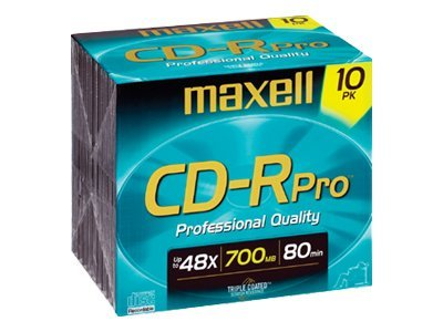 Maxell 700MB 48x CD-Rpro Media (10-pack), 648410, 4901922, CD Media