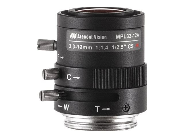 Arecontvision 3.3 to 12mm 1 2.5 f 1.4 CS-Mount Manual Iris Varifocal Lens