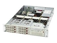 Supermicro Chassis, 2U, Rackmount, Dual Xeon, 6 SCSI Swap Bays, FD, Slim and 5.25 Bay, 7 PCI, 400W PWS, Black, CSE-0051-B0, 6423215, Cases - Systems/Servers