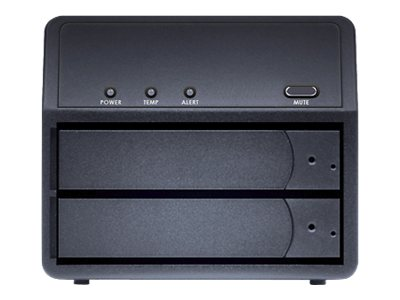 Sans Digital MobileRAID MR2UT+B 2-Bay USB3.0 eSATA RAID 0 1 Storage Enclosure - Black, ST-SAN-MR2UT+B, 17335042, Hard Drive Enclosures - Multiple