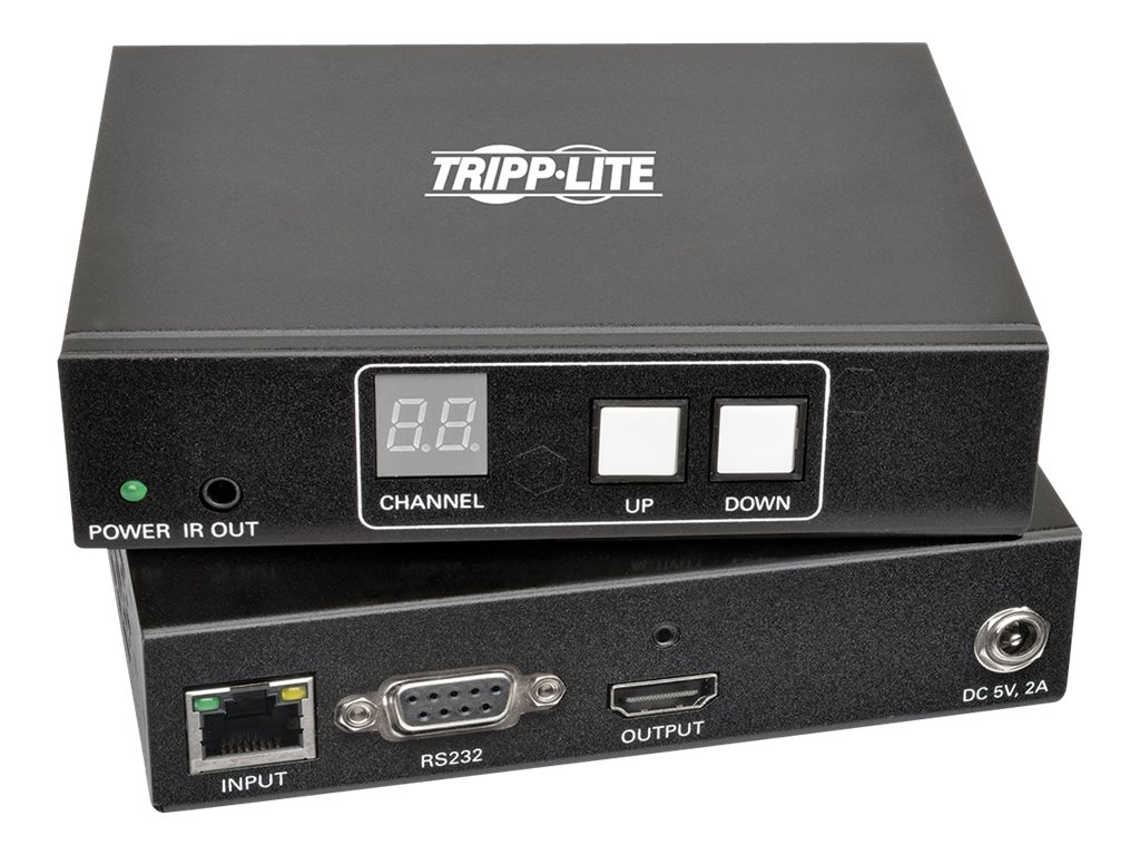 Tripp Lite HDMI DVI Audio Video with RS-232 Serial and IR Control over IP Extender Kit, 1920 x 1080 @60Hz