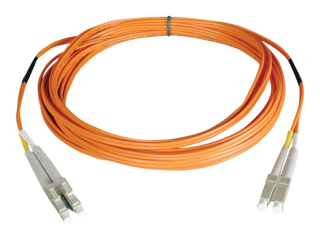 Tripp Lite Fiber Optic Cable, LC-LC, 62.5 125, Duplex, Multimode, Orange, 1m