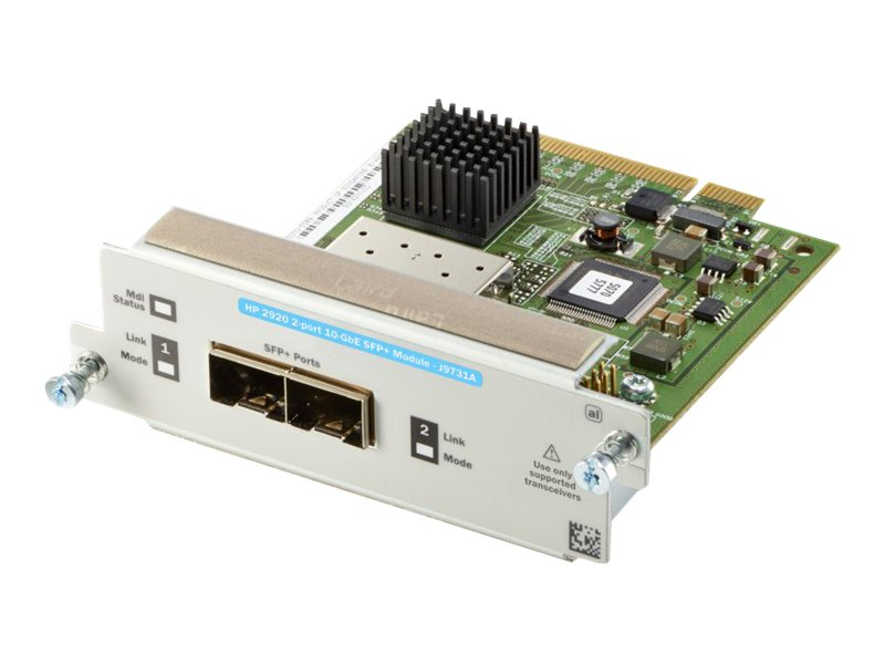 HPE Aruba 2920 2-Port 10GbE SFP+ Module, J9731A, 15264172, Network Device Modules & Accessories