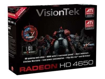 VisionTek ATI Radeon HD 4650 PCIe 2.0 x16 Low Profile Graphics Card, 1GB DDR2, 900275, 9869491, Graphics/Video Accelerators