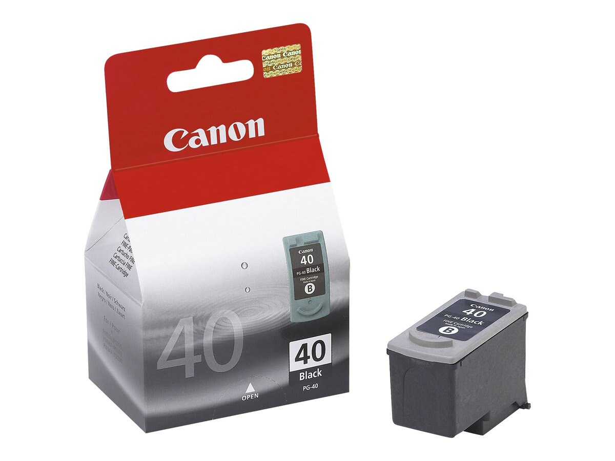 Canon Black PG-40 Ink Tank, 0615B002, 6000095, Ink Cartridges & Ink Refill Kits