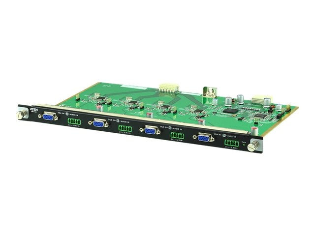 Aten 4-Port VGA HDBaseT Input Board, VM7104, 25489199, Video Extenders & Splitters