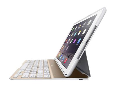 Belkin QODE Ultimate Lite Keyboard Case for iPad Air 2, White and Gold